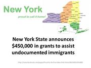 New York State $450,000 in grants to assist undocumented immigrants