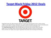 Target Black Friday 2012 Deals Ads