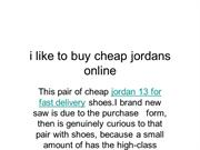 i like to buy cheap jordans online