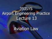 Aviation Law: Airport Engineering Practice