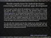 Android Apps Developer In London