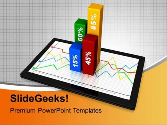 Percentage graph on computer table business powerpoint template related powerpoint templates toneelgroepblik Image collections