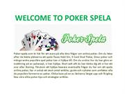 WELCOME TO POKER SPELA