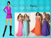Have a Look of Party Dresses Fall 2012