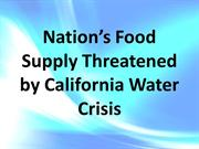 Nation's Food Supply Threatened by California Water Crisis