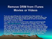 Free Solution to Remove DRM from iTunes Movies or Videos
