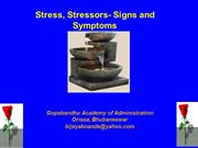 Stress - Stressor - Signs & Symptoms
