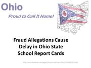 Fraud Allegations Cause Delay in Ohio State School Report Cards