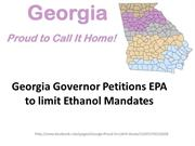 Georgia Governor Petitions EPA to limit Ethanol Mandates
