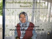 Visual Methodologies in Nursing Research