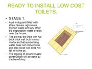 READY TO INSTALL LOW COST TOILETS