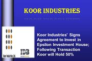 Koor Industries' Signs Agreement to Invest in Epsilon Investment House