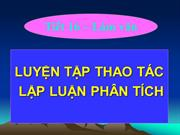 Ngu van 11 tiet 16 luyen tap thao tac lap luan phan tich