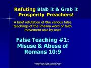 lies of rhema - romans ten nine