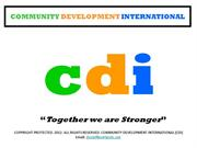 COMMUNITY DEVELOPMENT INTERNATIONAL (CDI)