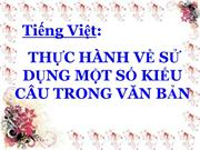 Ngu van 11 tiet 64 thuc hanh mot so kieu cau trong van ban