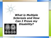 What is Multiple Sclerosis and How Can I Prove my Disability