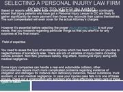 Selecting a Personal Injury Law Firm Points to keep in mind