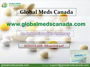 Buy SINGULAIR (Montelukast) Online from globalmedscanada.com