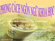 Ngu van 12 tiet 13 Phong cach ngon ngu khoa hoc