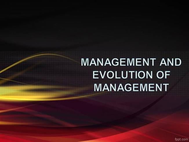History of management theory ppt