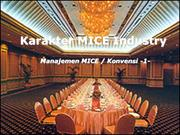 1. Karakter MICE Industri
