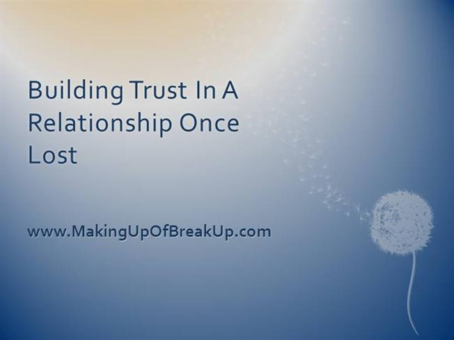 Lost trust in a relationship