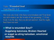 wounded soul