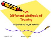 Different Methods of Training