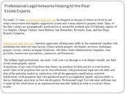 Professional Legal Networks Helping All the Real EstateExperts