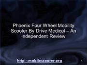 Phoenix 4 Wheel Mobility Scooter - Modern Design