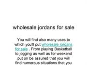 wholesale jordans for sale