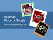 Tips Bisa Berada di Halaman Awal Google atau Halaman Pertama Google