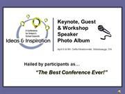 Conference  Key Note Speakers