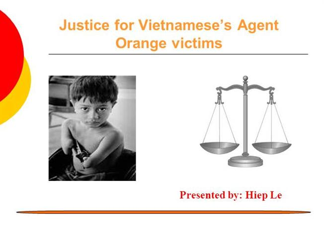 agent orange child limbless, brainless at times