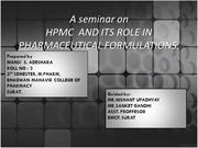A seminar on HPMC and its role in pharmaceutical formulations