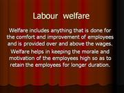 labour welfare