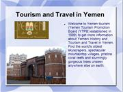 Tourism and Travel in Yemen