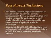 Post harvest management