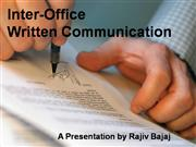 Internal Written Communication