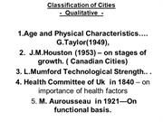 Classification of Cities(1)