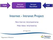 Internet-Intranet Project Update