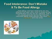 All About Food Intolerance and Food Allergies