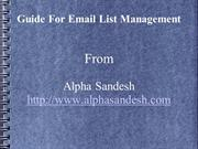 list management ppt
