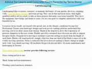 Advise for Lawns and Concrete Floors Toronto by Terra Stone Landscapin