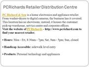 PCRichards Retailer Distribution Centre