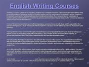 Best English Writing Courses