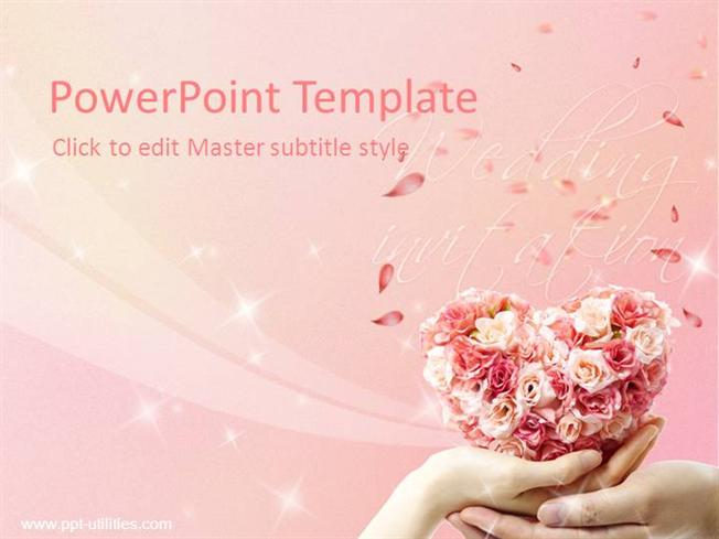Free wedding ppt template authorstream toneelgroepblik Choice Image