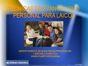 Presentacin tecnicas de evangelismo personal