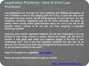 Legislation Positions - How to Find Law Positions